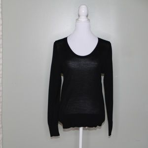 everlane women black wool sweater SZ S
